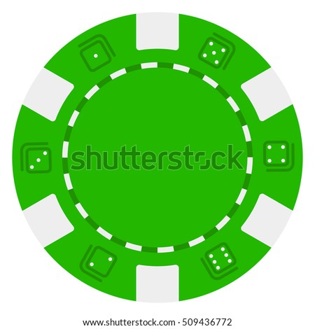 green and white casino chip