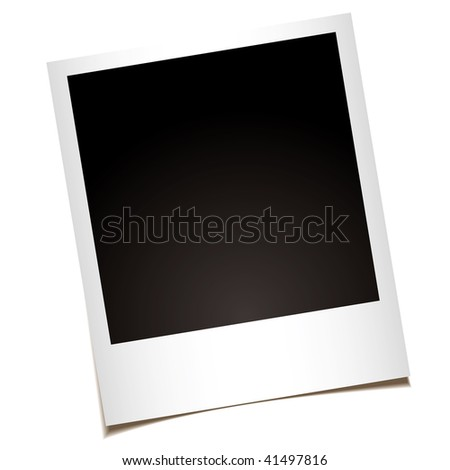 single instant photo with black space with room to add your own image - stock vector