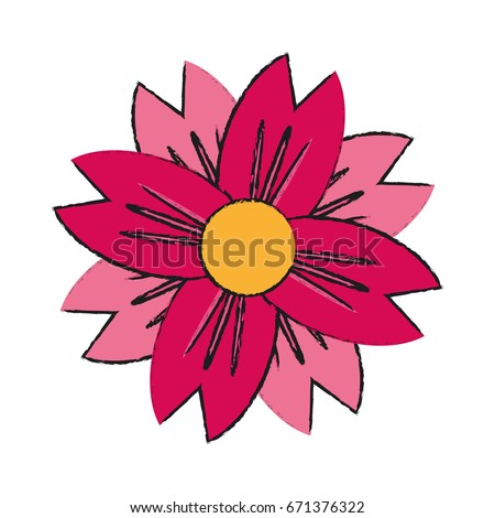 Single pink flower icon image stock vector 671376322 shutterstock single pink flower icon image mightylinksfo