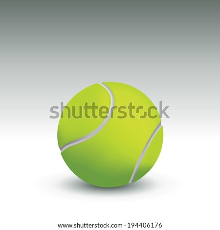 Single tennis ball. Vector illustration