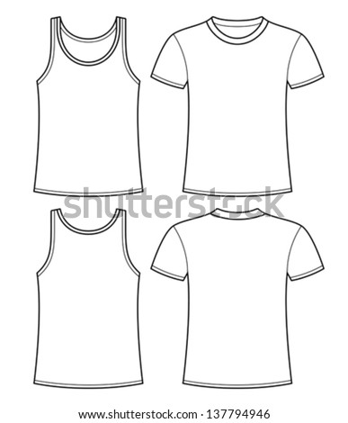 Tshirt front and back stock photos royalty free images for White t shirt template front and back