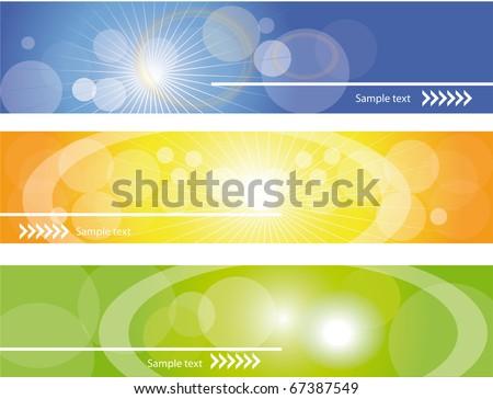 Site headers , vector eps10. - stock vector