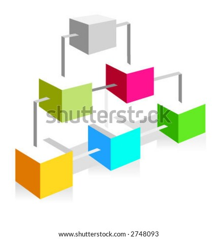 site-map icon for web projects and not only. Simple but useful. - stock vector