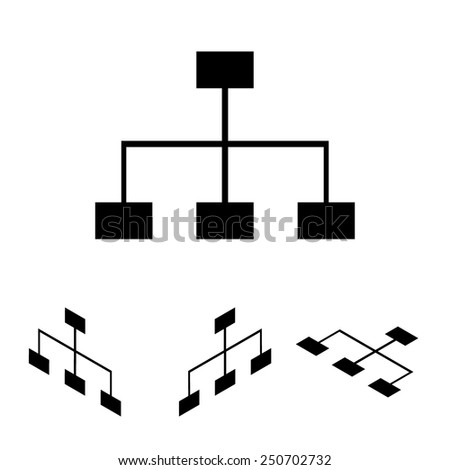 site map icon for your projects  set. Isometric effect - stock vector