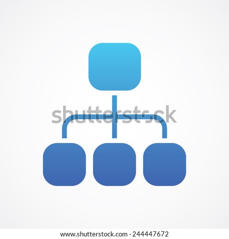 Site map icon. Simple flat style vector illustration - stock vector