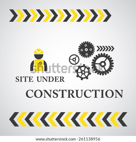 site under construct vector symbol