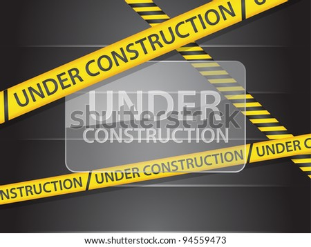 site under construction - stock vector
