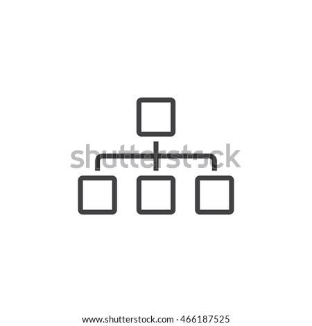 Sitemap line icon chart outline vector stock vector 466187525 sitemap line icon chart outline vector logo linear pictogram isolated on white pixel ccuart Image collections
