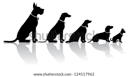 Sitting Dog Silhouettes