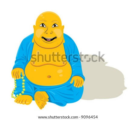 Sitting Vector Buddha illustration! - stock vector