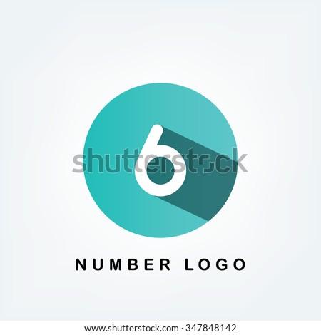 six circle logo - stock vector