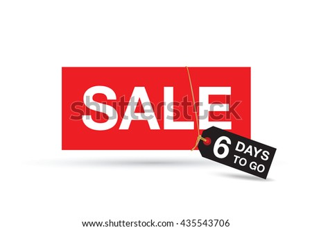 six day sale sign
