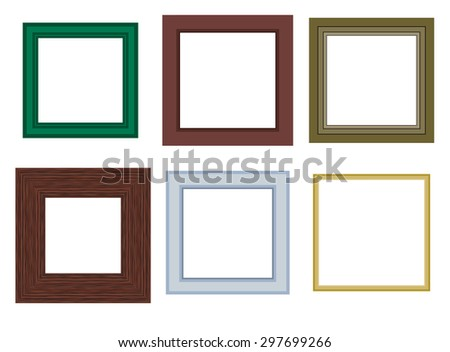 Six different vector frame design - stock vector