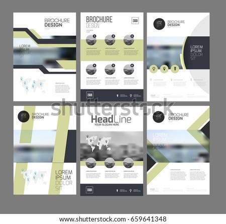 Six Flyer Marketing Templates Photo Text Stock Vector - Marketing layout templates