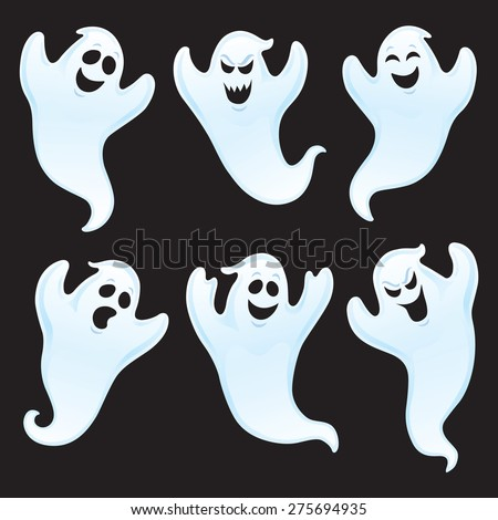 Six Ghost Characters Assorted Expressions Stock Vector 275694935 ...