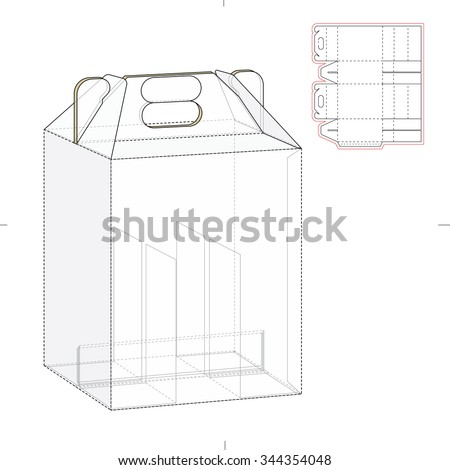 Six pack carrier box die cut stock vector 344354048 shutterstock six pack carrier box with die cut template pronofoot35fo Images