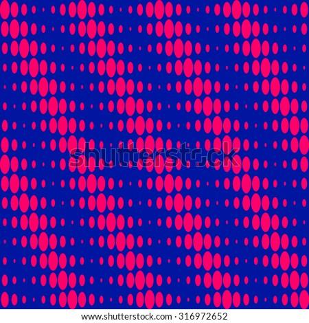 Sixties psychedelic op-art pattern - stock vector