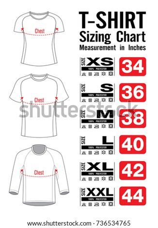 Sizing Chart Chest Sport Jersey Template Stock Vector HD Royalty - T shirt design size template