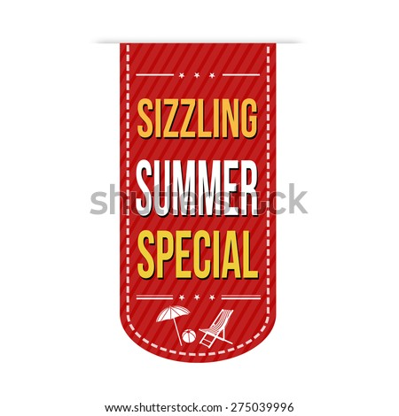 Sizzling summer special banner design over a white background, vector illustration - stock vector