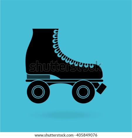 skate retro design  - stock vector