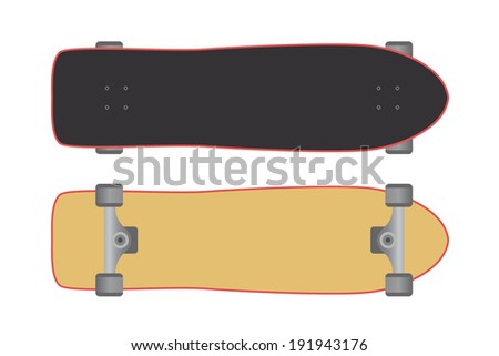 Skateboard isolated on a white background. Vector illustration - stock vector