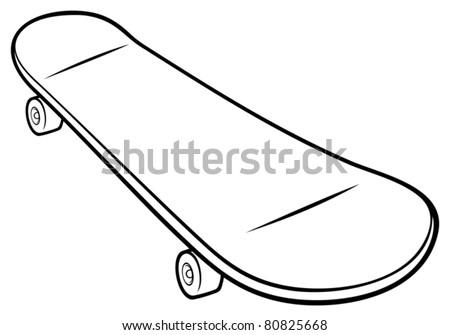 Skateboard Vector - stock vector