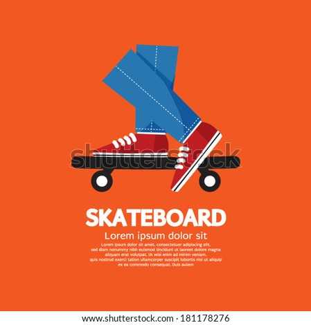 Skateboard Vector Illustration - stock vector