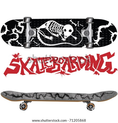 skateboard with design
