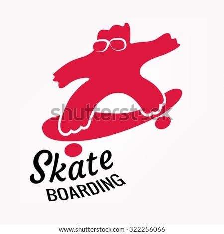 Skateboarding - stock vector