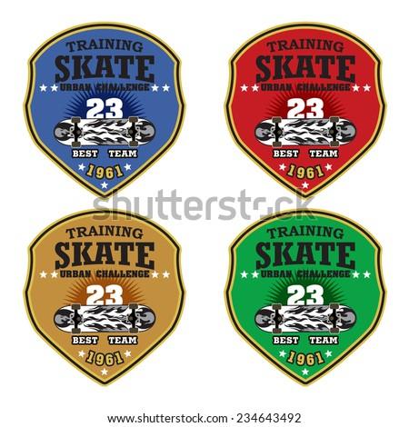 Skateboarding badge vector / Vintage Skate badges and labels. / vectro skate badges / labels / emblems - stock vector