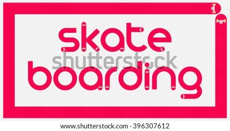 Skateboarding logo. Skateboarding logotype. Skateboard letter. - stock vector