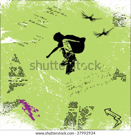 skater grunge vector background