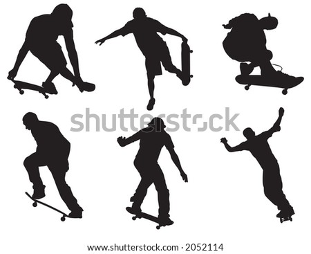 Skater vectors that can be resized to ones desire
