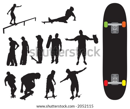 Skater vectors that can be resized to ones desire - stock vector