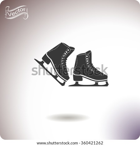 Skates icon. Universal icon to use in web and mobile UI - stock vector