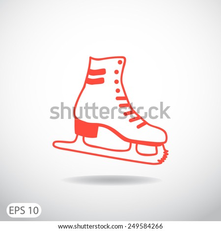 skates, web icon. vector design