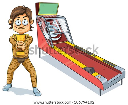 Skeeball Winner - stock vector