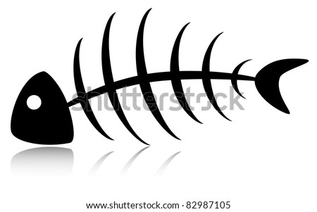 Skeleton. Vector - stock vector