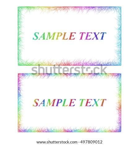 Sketch business card border templates happy stock vector royalty sketch business card border templates in happy rainbow colors wajeb Gallery