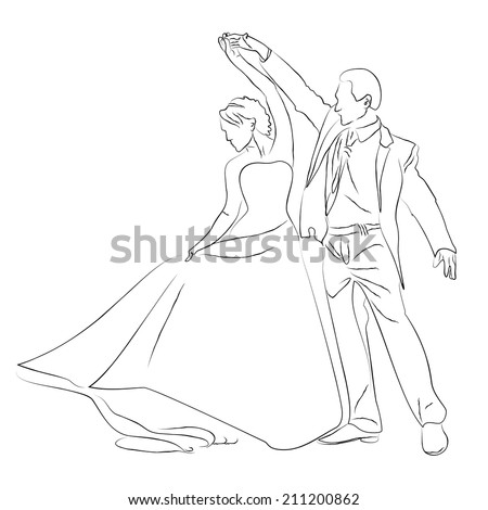 Wedding Man And Woman Silhouette Dancing 62