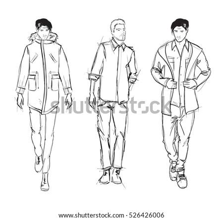 man fashion sketch stock images royaltyfree images
