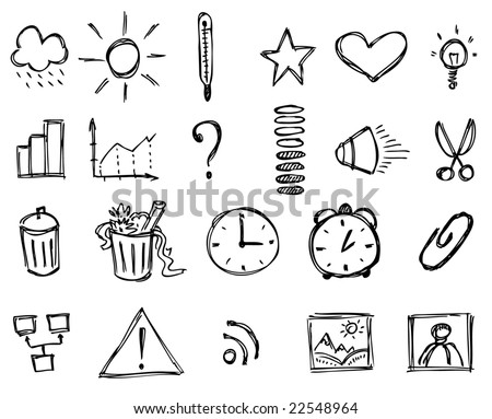 Sketch icons (Set 2) - stock vector