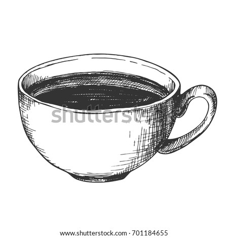 Sketch Ink Graphic Cup Coffee Illustration Stock Vector (2018 ...