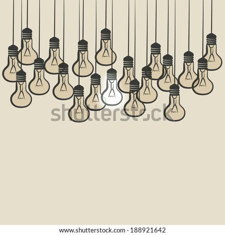sketch lightbulb background - vector illustration. eps 10 - stock vector