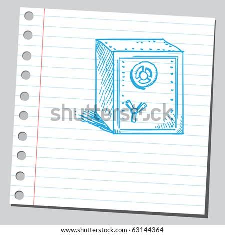 Sketch of a safe - stock vector