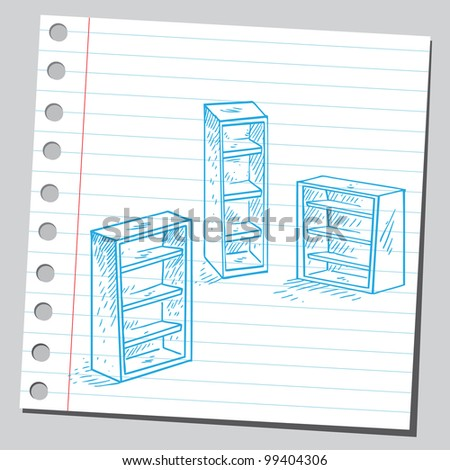 Sketch of a shelves