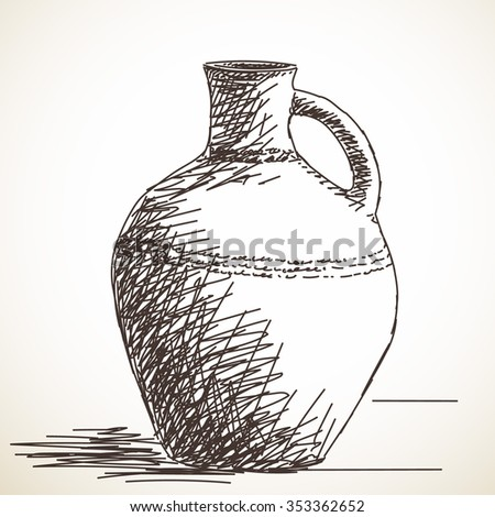 how to draw a jug of water