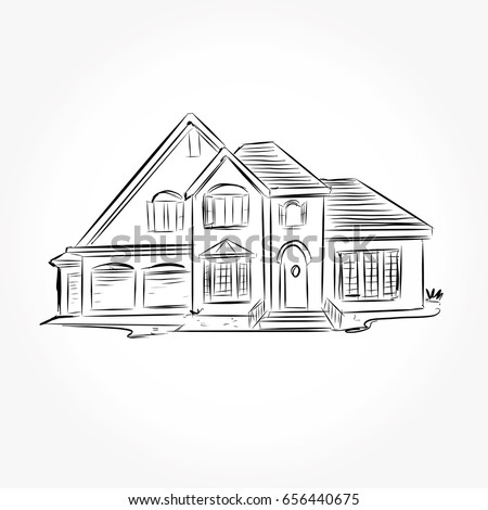 Great Sketch House Architecture Drawing Free Hand Stock Photo (Photo, Vector,  Illustration) 656440675   Shutterstock