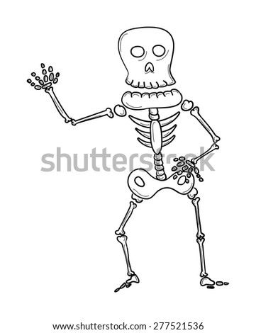sketch of the skeleton on white background, isolated - stock vector