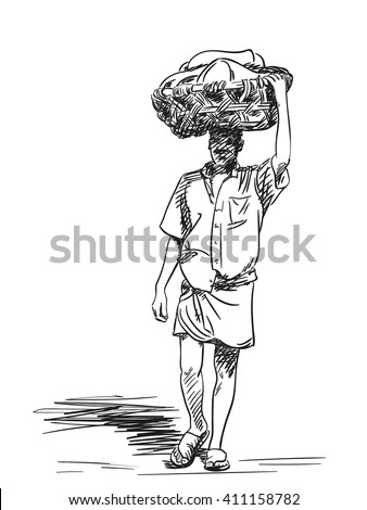 man praying in traditional south indian dress royalty free